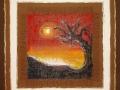 Al tramontar del sole       acrilico e tela juta cm.60x60